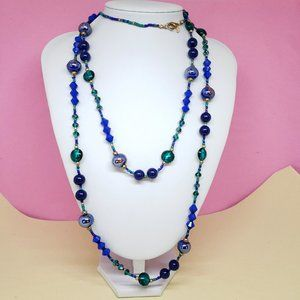 Premier Designs Glass Beaded Statement Necklace